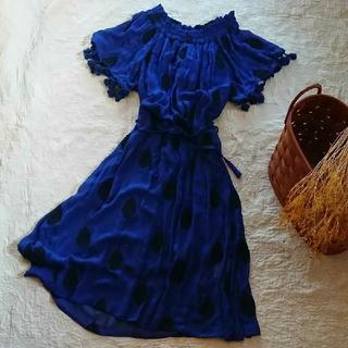 ガリャルダガランテ(GALLARDA GALANTE)のGALLARDA GALANTE フリンジ袖と刺繍ワンピース(ロングワンピース/マキシワンピース)