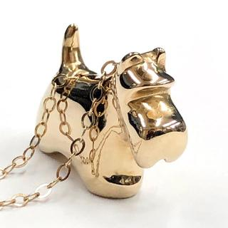 仔犬モチーフ K14 ゴールド ペンダント ネックレス  8.4g 40cm (ネックレス)