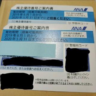 エーエヌエー(ゼンニッポンクウユ)(ANA(全日本空輸))のANA株主優待券 2枚 有効期限 11月30日(その他)