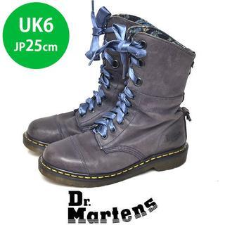 ドクターマーチン(Dr.Martens)のドクターマーチン インナー花柄 9ホール ショートブーツ UK6(JP25cm)(ブーツ)