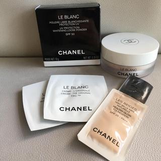 シャネル(CHANEL)のシャネル ル ブラン ルース パウダー +サンプル(フェイスパウダー)