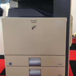 シャープ(SHARP)の【シャープ】【中古】カラ複合機 MX-2700FG(4段カセット・スキャナ搭載)(OA機器)