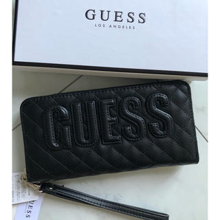 GUESS - タグ付き 未使用 guess 長財布 黒