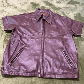 ハーレーダビッドソン(Harley Davidson)のハーレーダビットソン レザージャケット 半袖(ライダースジャケット)