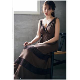 snidel - herlipto Lace-trimmed Jersey Long Dress