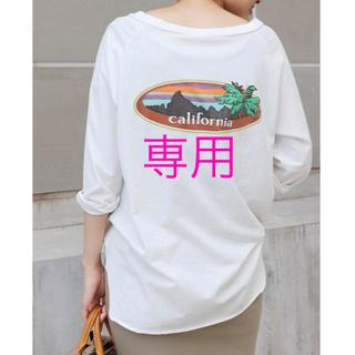 ドゥーズィエムクラス(DEUXIEME CLASSE)のDeuxieme Classe ラグランバックプリントTシャツ ホワイト (Tシャツ(長袖/七分))