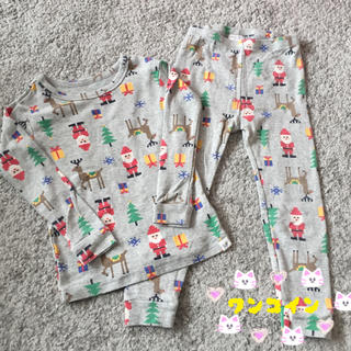 ベビーギャップ(babyGAP)のパジャマ  100センチ  レゴ風  サンタ  グレー(パジャマ)