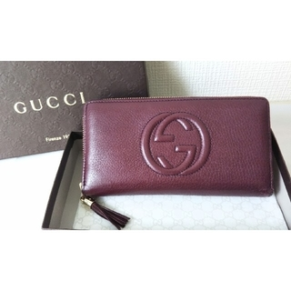 Gucci - 正規品 グッチ SOHO/ソーホー ラウンドファスナー長財布 フリンジチャーム
