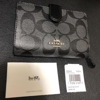 コーチ(COACH)のcoach コーチ☆新品 折り財布 正規品 ブラック(折り財布)