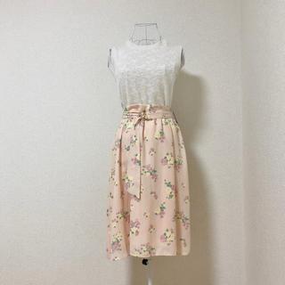 クチュールブローチ(Couture Brooch)の《新品・タグ付き》couture brooch 花柄 スカート M(ひざ丈スカート)