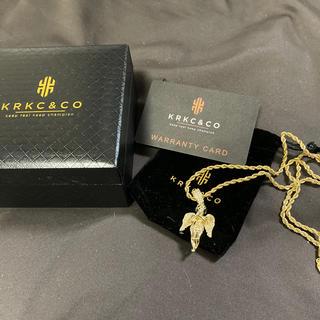 アヴァランチ(AVALANCHE)のkrkc&co 14Kゴールドアイスアウト 天使ペンダント チェーン付き(ネックレス)