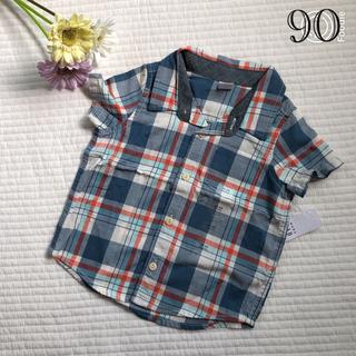 ベビーギャップ(babyGAP)の新品♡gap チェック柄シャツ(Tシャツ/カットソー)