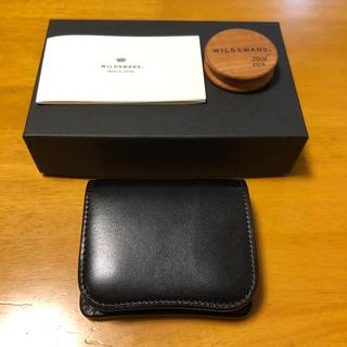 ワイルドスワンズ パーム フルグレインブライドル ブラック(折り財布)