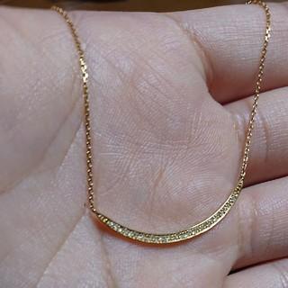 アガット(agete)のアガット K18 ダイヤモンドネックレス(ネックレス)