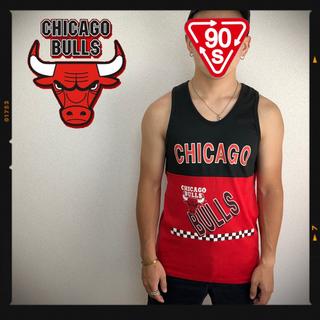 チャンピオン(Champion)の激レア シカゴブルズ USA ヴィンテージ タンクトップ NBA 古着 90s(Tシャツ/カットソー(半袖/袖なし))