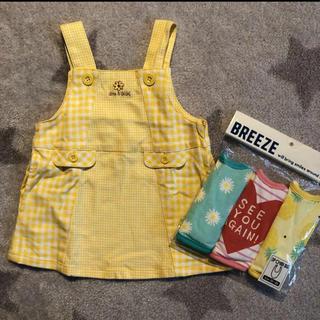 ベベ(BeBe)の新品BREEZEスタイ3P  eabBEBEワンピースジャンパースカート(ワンピース)