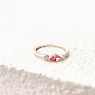 アメリヴィンテージ(Ameri VINTAGE)のpink ring*ピンクラブストーンダイヤモンドリング(リング)