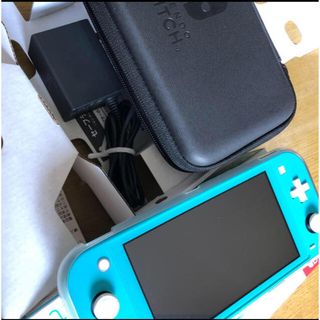 ニンテンドウ(任天堂)のNintendo switch lite ターコイズ 中古(携帯用ゲーム機本体)