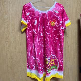 ディズニー(Disney)のTシャツ【ワンピース】(ミニワンピース)
