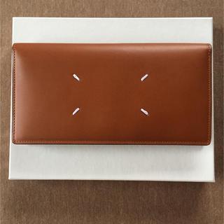マルタンマルジェラ(Maison Martin Margiela)の19AW新品 メゾン マルジェラ フォールデッド 長財布 ブラウン タン メンズ(長財布)