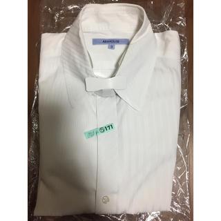 【美品】アバハウス ドレスシャツ ホワイト シャドーストライプ