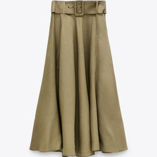 ザラ(ZARA)の【新品/タグ付き】 ZARA ベルト付きラスティックスカート (ロングスカート)