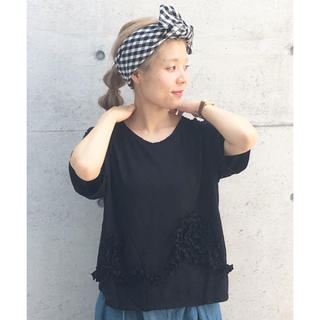 Dot and Stripes CHILD WOMAN フリルアップリケT