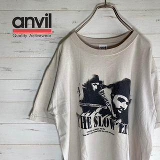 Anvil - 【USA古着】半袖Tシャツ anvil   ベージュ フロントプリント コットン