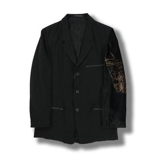 ヨウジヤマモト(Yohji Yamamoto)のヨウジヤマモト 左袖ベルベット ジャケット(テーラードジャケット)