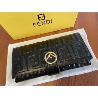 フェンディ(FENDI)の素敵✽美品 FENDI 折り財布 長財布 開閉式 本革(長財布)