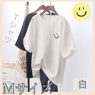 ビッグシルエット オーバーサイズ スマイル Tシャツ M
