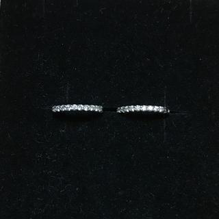 K18WG ダイヤモンド 中折れ式フープピアス