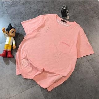 クロムハーツ(Chrome Hearts)のお勧め!Chrome Hearts クロムハーツ Tシャツ ピンク 男女兼用  (Tシャツ/カットソー(半袖/袖なし))