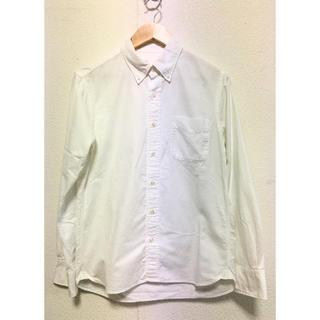 ムジルシリョウヒン(MUJI (無印良品))の美品 無印良品 オーガニックコットン洗いざらしオックスボタンダウンシャツ M 白(シャツ)