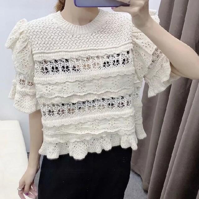ZARA(ザラ)の透かし編みニット レディースのトップス(ニット/セーター)の商品写真