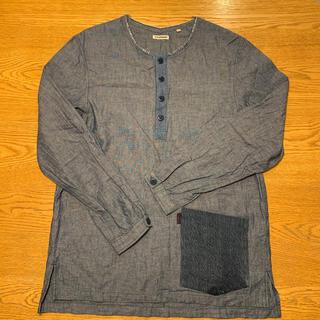 ハリウッドランチマーケット(HOLLYWOOD RANCH MARKET)の【H.R.REMAKE】ヘンリーネックロングTシャツ(Tシャツ/カットソー(七分/長袖))