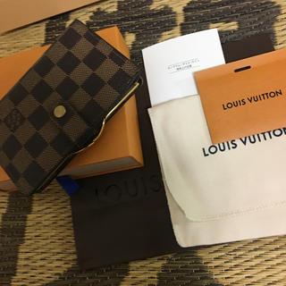 ルイヴィトン(LOUIS VUITTON)のルイヴィトン,ポルトフィユヴェノエワがま口財布ダミエ(財布)