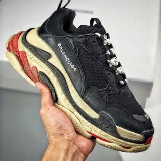 Balenciaga - BALENCIAGA Triple S Black White Red