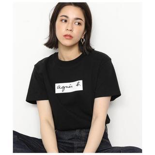 アニエスベー(agnes b.)のアニエスベー ×アダムエロペ ボックスロゴTシャツ  L(Tシャツ(半袖/袖なし))