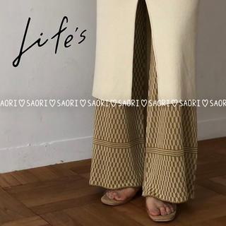 トゥデイフル(TODAYFUL)のTODAYFUL【未使用に近い】Geometric Knit Pants(カジュアルパンツ)