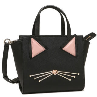 kate spade new york - 新品 ハンドバッグ ショルダーバッグ 2way ブラック 猫ちゃん