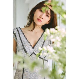 snidel - 【Herlipto】Lace Trimmed Floral Dress