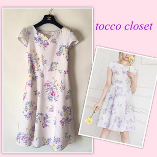 トッコ(tocco)のtocco closet♡花柄 ワンピース ハートネック (ひざ丈ワンピース)
