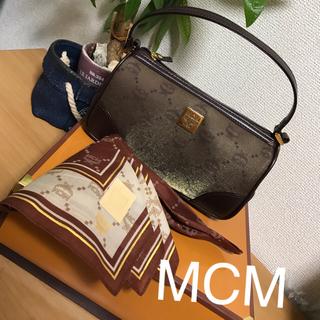 エムシーエム(MCM)の新品☆MCMポーチorミニバッグハンカチセット(ハンドバッグ)