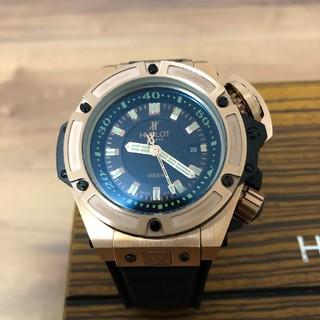 ウブロ(HUBLOT)の【超激極美品】ウブロ ワンプッシュ式かなりごっついブロンズとブラック自動巻腕時計(腕時計(アナログ))