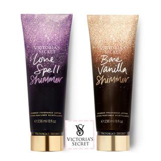 ヴィクトリアズシークレット(Victoria's Secret)のヴィクトリアシークレット ラメ ボディローション 2個セット【新品】(ボディローション/ミルク)