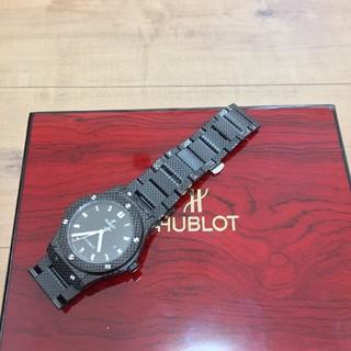ウブロ(HUBLOT)の【超激極美品】ウブロ、ブラックの裏スケ自動巻腕時計(腕時計(アナログ))