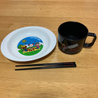 ヒステリックミニ(HYSTERIC MINI)の【Hysteric mini】プレート コップ お箸★3点セット(プレート/茶碗)