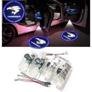 ハリアー車用カーテシランプ ロゴ 工具付 4個セット カーテシライト ドアウェル(蛍光灯/電球)