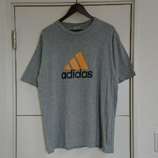 adidas - adidas アディダス Tシャツ 90s古着 両面デカロゴ ビッグシルエット